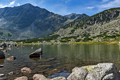 Amazing Panoramic view of Musalenski lakes and Musala peak,  Bulgaria