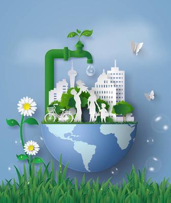 生态和世界水日与家庭的概念