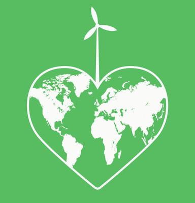 Ecologic Heart - Ecological Heart - Eco Heart - Save The Planet Logo -