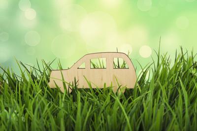运输对环境的影响。概念的照片
