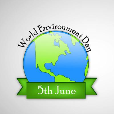 背景为世界环境日的插图