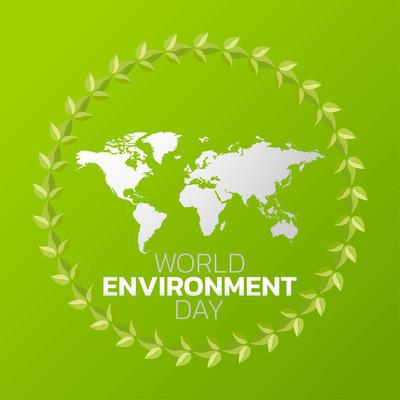 世界环境日 logo 图标设计, 矢量插画