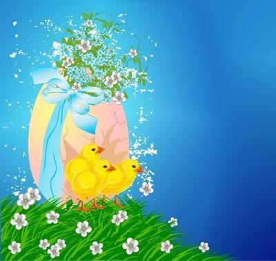 复活节复活节鸡蛋和鸡肉的组成