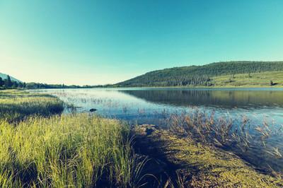在阿拉斯加的宁静湖
