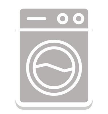 洗衣机隔离向量图标, 可以轻松编辑或修改