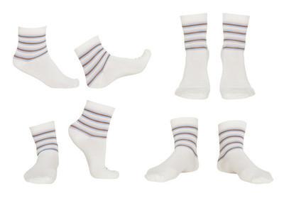 拼贴的袜子