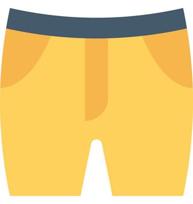 短裤平面矢量图标
