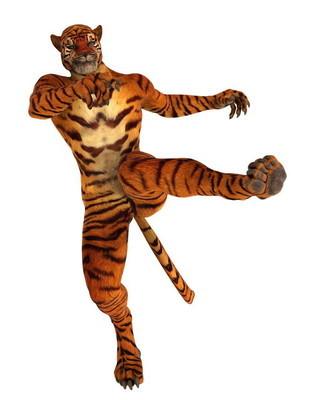 3d cg 渲染的虎人