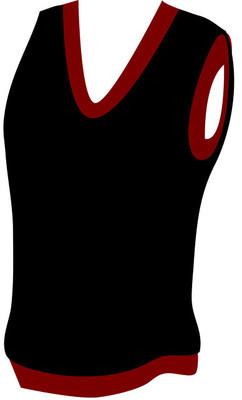 男式背心的矢量图像