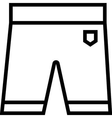 短裤扁线矢量图标