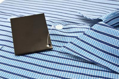 蓝色的男式衬衣