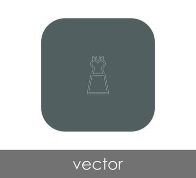 服装图标的矢量图示设计