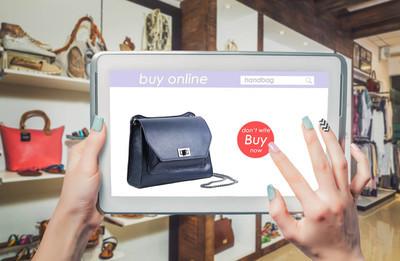 在线,购买的购物袋,时尚女装