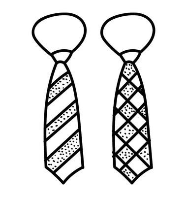 可定制领带手绘, 领带图标