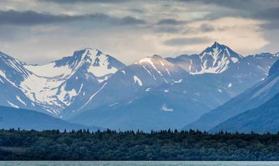 极好的阿拉斯加的峡湾的景色
