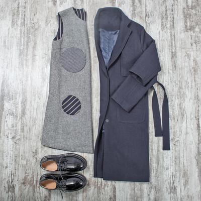 顶视图的时尚布和配件