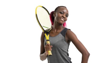 女人打网球