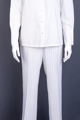 女式白色条纹长裤