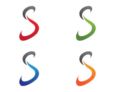 S 字母标志模板