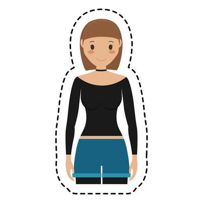 女人卡通图标