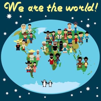地球和联合国图标集