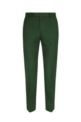 绿色正式男装长裤在白色背景被隔绝了