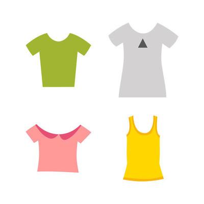 服装设计概念矢量图