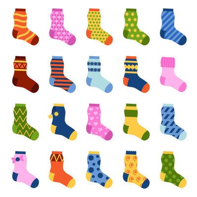 袜子矢量图