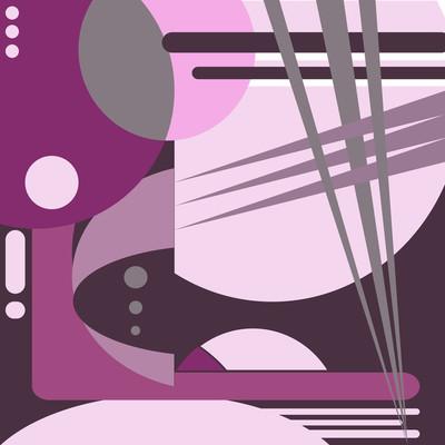 紫罗兰色抽象的几何图案