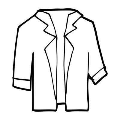卡通套装衬衫的矢量插画
