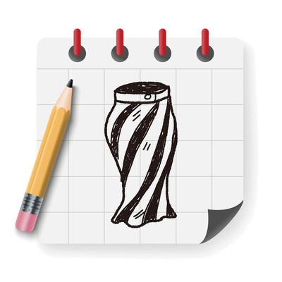 裙子的涂鸦矢量图矢量图