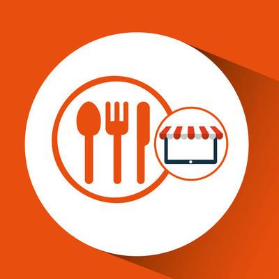 网上开店餐厅设计图标