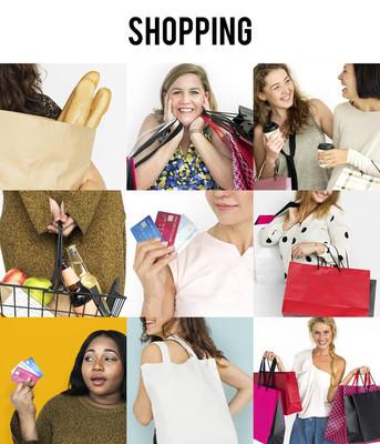多样性妇女享受购物