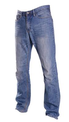 裤子上白色,鬼时尚风格的摄影,孤立蓝色牛仔裤