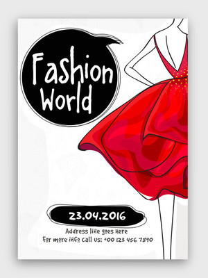Fashion World Flyer, Template or Banner design.