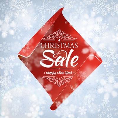 圣诞促销和新年快乐海报