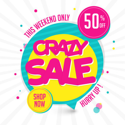 Crazy Sale Poster, Banner or Flyer design.