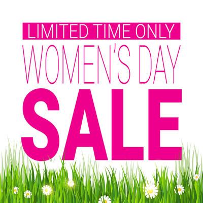 折扣3月8日购物传单国际妇女日促销模板海报设计