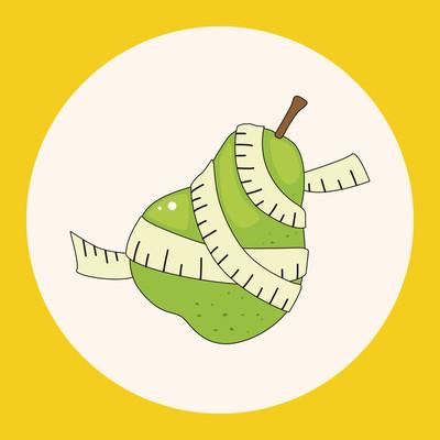 蔬菜和水果主题元素图标元素
