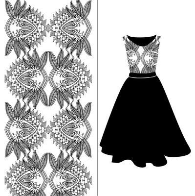 刺绣图案服装设计