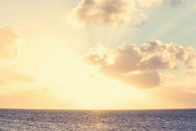 景区海上日落