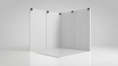3d. 为找不同小的白色展架渲染