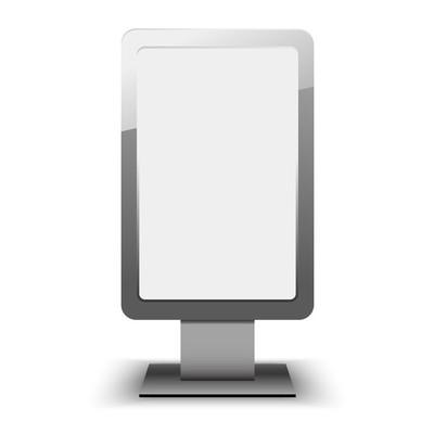 Blank city lightbox template. Blank billboard and outdoor advert