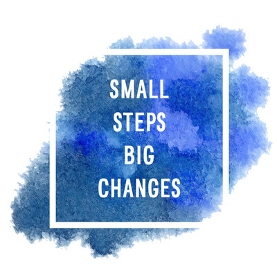 "Motivation poster ""small steps"""