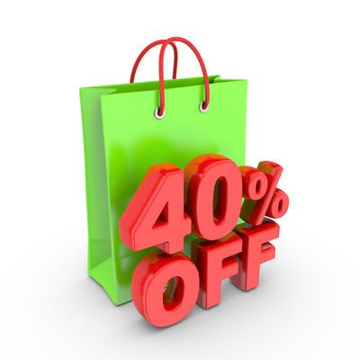 打折优惠购买 40%
