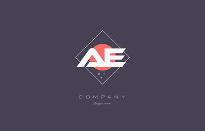 ae d 老式复古粉色紫色字母表字母标志图标 temp
