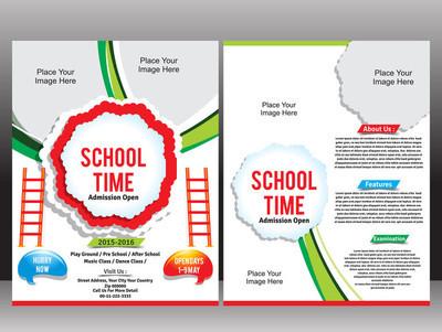 学校招生海报模板