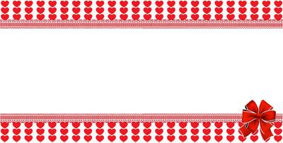 爱模板与空间为文本和节日弓心脏 backgro