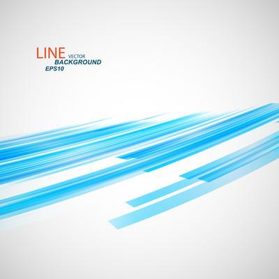 矢量彩色抽象线 eps