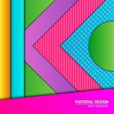 Vector material design background.